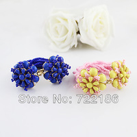 Mother's day gift  2014 New Design Bright  Colorful beads Alloy Flower Bracelets  for Women
