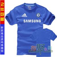 Cotton short-sleeve 100% training service fa premier league chelsea champions league football t-shirt jersey fans t-shirt