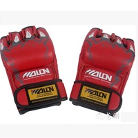 Free Shipping  Red Boxing Training Gloves Fight Muay Thai TKD karate Mittens Mitts