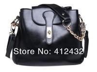 2014 new arrived Genuine Oil Leather Handbags Womens Shoulder Bags Tote Vintage Satchel Bags  women messenger bag free shipping