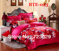 Wholesale & Retails new 2014 fashion 4pcs velvet bedding set  queen size Quilt Cover Bedspread/ Sheet ,pillowcase free shipping