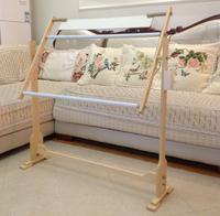 2014 Sale Real Household Essentials/decoration Kits Wood Rack Large 80cm Adjustable Vertical Desktop Ribbon Embroidery Frame