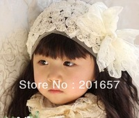 Wholesale and Retail lace flower embrodiery Elastic hairband headband hair accessory party accessory
