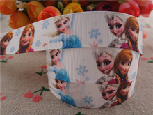 "2014 new arrival 7/8"" (22mm) frozen princess printed grosgrain ribbon cartoon ribbons hair accessories 10 yards wq2709(China (Mainland))"