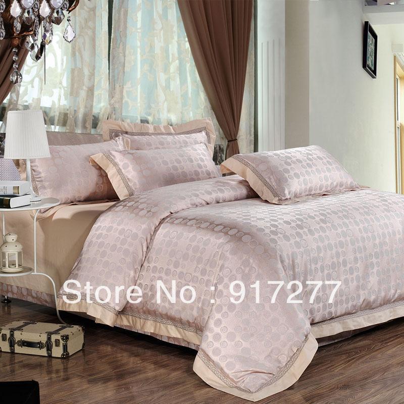 FRETE GRÁTIS luxo 4pcs Noble ALGODÃO / QUEEN SEDA E Rei Silk conjunto de cama / Lençois / capa de edredão / lençol(China (Mainland))