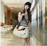 Canvas bag women's handbag casual women's bags preppy style cross-body shoulder bag