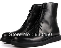 Guaranteed 100% Genuine Leather Round toe Lace-Up Men Boots Eur 37 to 44 Man casual boots Retail/wholesale Free shipping