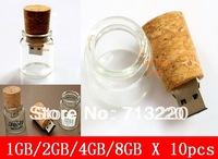 10pcs/Lot X 1GB/2GB/4GB/8GB/  Wholesale Driftage Bottle Design USB Drive Free Print Logo Promotiongift Free Shipment