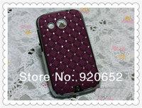 MOQ:1PCS 10 COLOR STOCK! Luxury Bling Diamond Rhinestone Diamond Cover Hard Case For HTC Desire C Case A320e Case Back Cover
