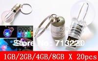Free Shipment 20pcs/lot X 1GB/2GB/4GB/8GB/  Wholesale LED Shining Bulb Electric Light Table Lamp Design USB Drive  Promotions