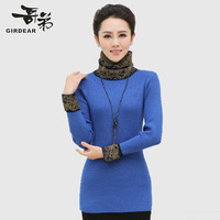 cardigan Double 12 autumn and winter female sweater pullover sweater cashmere sweater slim 45