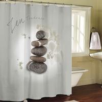 Bathroom products Zen stones curtain bathroom shower curtain terylene bath curtain 180x200cm ,screen shower,curtain bath