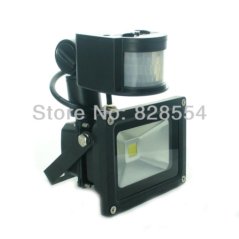 Big Discounts 10W LED PIR Motion Sensor Flood Light Warm Cold White Lamps Outdoor Garden Lighting 12V AC/DC Black(China (Mainland))