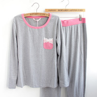 New arrival quality Women lounge 100% cotton spring and autumn long-sleeve at home sleep set