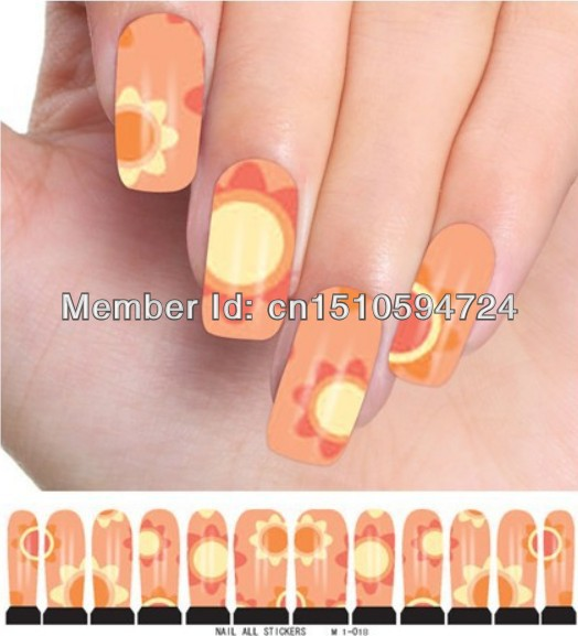 M1-018 10sheets/lot New 86Style Water decals Nail Stickers Full Cover Nail tips For Fingernail Beauty Desgin Wholesale(China (Mainland))