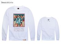 New  Men's Fashion  DIAMOND Crewneck black white red Swag loose Hip hop  rap Sport sweatshirt holiday Sweater