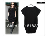 XL L 2014 Autumn Winter Women`s New Fashion Casual Europe Plus Size Loose Vest Dress