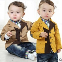 new 2014 boys fish design contrast color gentlemen kids clothes sets 3pcs handsome baby boy clothing set kids apparel suit