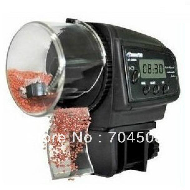 DZ144 black Automatic Fish Feeder Food Supply Convenient Auto Aquarium Tank Fee(China (Mainland))