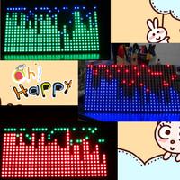 Free shipping rotating led pov single chip microcomputer system SCM mcu kit spectrum KTV LED dot matrix decorative lighting LED