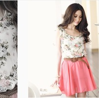 2014 Hot! Cuihua new Korean chiffon sleeveless tunic dress Dress Women Dresses