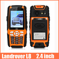 High quality 2.4 inch  waterproof mobile phone Dustproof Shockproof GSM Unlocked  Bluetooth Outdoor Car Phone
