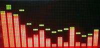 Free shipping SCM mcu kit electronic pov DIY digitalMusic Spectrum STM32 control 32X64 dot matrix matching program