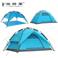 Outdoor aluminum alloy rod automatic tent camping tent double layer tent