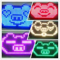 Free shipping led SCM mcu kit  electronic pov DIY digital16X32 dot matrix full color RGB color LED screen 16 * 32 dot matrix