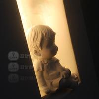 Ofhead child real cartoon lamp little angel gypsum lamp wall lamp
