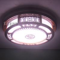Chinese style wood sheepskin lamp living room lights lamp restaurant lamp study light ceiling light 05