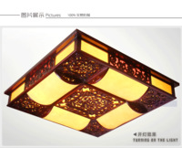 Chinese style wood carved full sheepskin lamp classical ceiling light living room lights lighting hotel lamp hall lamp 012