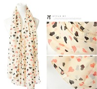 (Min order is $10)autumn winter female leopard print skull bow design long silk scarf chiffon cape