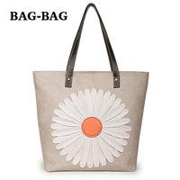 2014 spring New Linen + Genuine Leather flower handbag light Tote summer Fashion shoulder bag for women girl Dropshipping C058