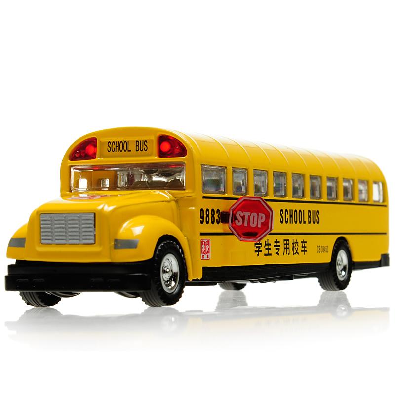 Classic school bus alloy car models plain WARRIOR inertia car model toy car(China (Mainland))