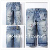 Free shipping Retai new Zar6942a cotton denim boys jeans brand children's long pants for 2-10 years kids Girls pants