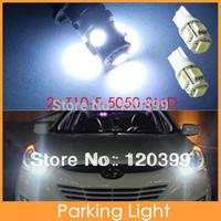 2x Super White 360 Degree 5 5050 SMD 168 194 195 2825 w5w T10 LED Car Light Lamp Bulbs For Corner Parking Lights