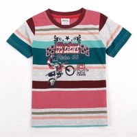 FREE SHIPPING C3532# Nova kids wear 18/24m-5/6yrs striped short sleeve t-shirts for baby boys with character