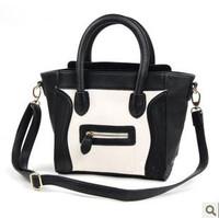 free shipping 2014 women's summer handbag rose candy color neon color smiley bag neon powder bag Medium r