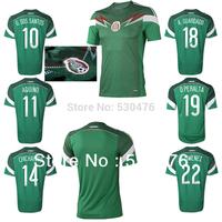 Free Shipping Thai quality player version Mexico 2014 Home Soccer Jersey CHICHARITO G. DOS SANTOS AQUINO Mexico Home Jersey