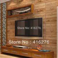 free shipping  Meters wood wallpaper wine box plaid zakka beijingqiang wallpaper three-dimensional relief