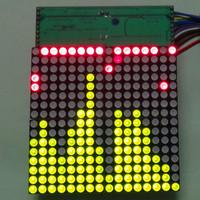Free shipping led SCM mcu kit  electronic pov DIY digital16X16 dot matrix screen electronic kits neon stick digital shook