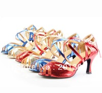 Women Discount  Snakeskin Print Dance Shoes Latin Ballroom Shoes Salsa Dance Shoes Tango Shoes 2.5inch 34,35,36,37,38,39,40,41