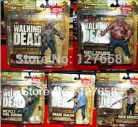 McFarlane Toys  Walking Dead TV version II  6inch Set  (5PCS/SET) acton figures new box in stock