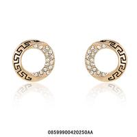 Fashion jewelry.Women stud earrings.Free shipping.18 KGP  Rose  gold stud earrings,Rhinestone stud earrings. Two color optional.