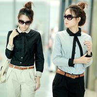 2013 women's formal plus size casual loose long-sleeve basic shirt female top shirt