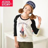 Fashion autumn 2013 rabbit loose thin basic shirt female long-sleeve T-shirt women's