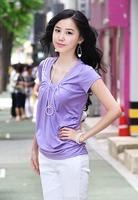 2013 summer t-shirt slim V-neck short-sleeve t-shirt new arrival t-shirt female pianbu plus size t-shirt