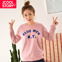 Fashion winter 2013 blue plus velvet loose o-neck pullover sweatshirt women outerwear