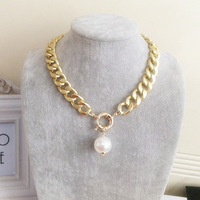 Free Shipping 2014 Newest Short Chunky Collar Gold/Silver/Black Chain Necklace, Women Dress Accessories Jewelry JJ25